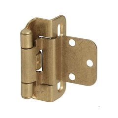 Partial Wrap 3/8 inch Inset Hinge Burnished Brass - Per Pair