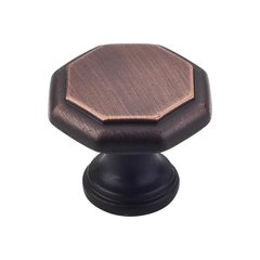 Drake 1-3/16 Inch Diameter Brushed Oil Rubbed Bronze Cabinet Knob <small>(#424DBAC)</small>