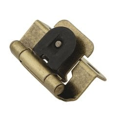 "Single Demountable 1/2"" Overlay Hinge Pair Antique Brass <small>(#P5313-AB)</small>"