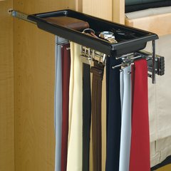 Tie/Belt Rack With Tray-Chrome