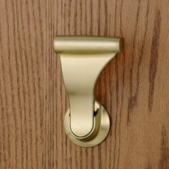 "Closet UltraLatch for 1-3/8"" Door Satin Brass <small>(#LCLEX-4)</small>"