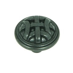 Sheffield 1-1/4 Inch Diameter Antique Black Cabinet Knob