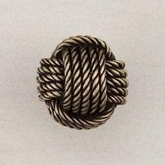 "Monkey's Fist Knob 1-1/4"" Dia Antique Brass"