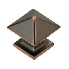 Studio 1 Inch Diameter Oil Rubbed Bronze Highlighted Cabinet Knob