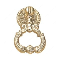 Empire 1-1/4 Inch Diameter Brass Cabinet Ring Pull