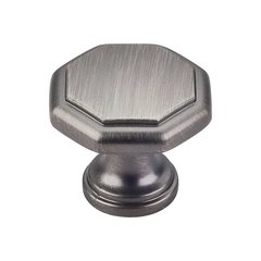 Drake 1-3/16 Inch Diameter Brushed Pewter Cabinet Knob <small>(#424BNBDL)</small>