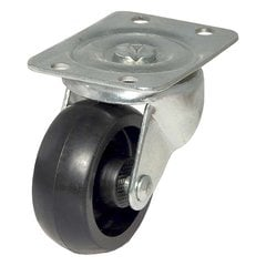 Polypropylene Caster With Swivel - Black <small>(#F25188)</small>