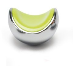 Neon 1-9/16 x 1-1/2 Inch Diameter Cabinet Knob - Lime with Polished Chrome Base