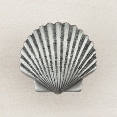 Small Scallop Knob 1-3/8 inch Diameter Antique Pewter