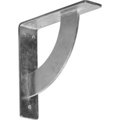 "Bulwark 2""W x 8""D x 8""H Countertop Bracket - Cold Rolled Steel Unfinished"
