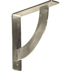 "Bulwark 2""W x 10""D x 10""H Countertop Bracket - Stainless Steel Stainless Steel"