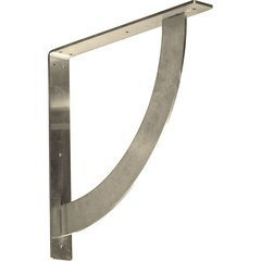 "Bulwark 2""W x 16""D x 16""H Countertop Bracket - Stainless Steel Stainless Steel"