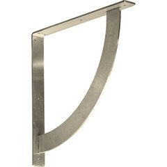 "Bulwark 2""W x 18""D x 18""H Countertop Bracket - Stainless Steel Stainless Steel"