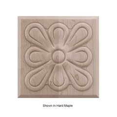 Brown Wood Medium Fleur Tile Unfinished Walnut 01902515WL1