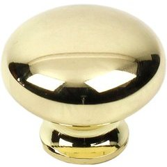 Yaletown 1-1/4 Inch Zinc Die-Cast Knob - Bright Brass