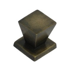 Knobs 3/4 Inch Diameter Unlacquered Antique Brass Cabinet Knob <small>(#HKN3010)</small>