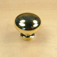 Elite 1-1/4 Inch Diameter Polished Brass Cabinet Knob