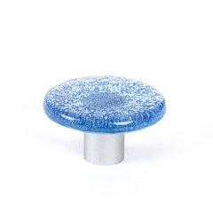 Aqua 1-7/8 Inch Diameter Blue Cabinet Knob <small>(#9660-1000-C)</small>