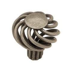 Forged Iron 1-3/8 Inch Diameter Antique Pewter Cabinet Knob <small>(#PN9011-AP-C)</small>