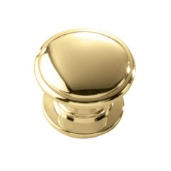 Williamsburg 1-1/4 Inch Diameter Polished Brass Cabinet Knob <small>(#P3053-PB)</small>