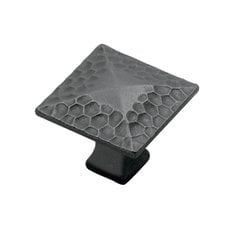 Craftsman 1-1/4 Inch Diameter Black Iron Cabinet Knob