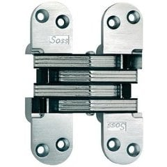 SOSS #220 Invisible Hinge Alloy Steel Satin Brass