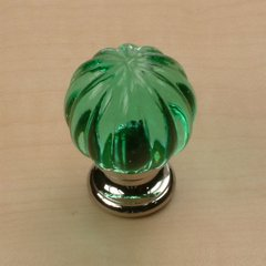 Tahoe 1-1/4 Inch Diameter Aquamarine/Polished Chrome Cabinet Knob