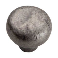 Distressed 1-3/8 Inch Diameter Pewter Cabinet Knob <small>(#331-P)</small>