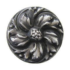 English Garden 1-3/8 Inch Diameter Antique Pewter Cabinet Knob