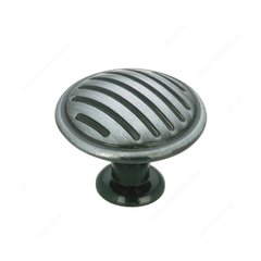 Art Deco 1-3/16 Inch Diameter Antique Iron Cabinet Knob <small>(#BP16930903)</small>