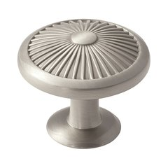 Crawford 1-3/8 Inch Diameter Satin Nickel Cabinet Knob