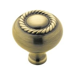 Allison Value Hardware 1-1/4 Inch Diameter Elegant Brass Cabinet Knob <small>(#BP53471EB)</small>
