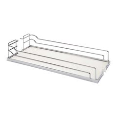 "Arena Plus Tray Set (2) 11"" Wide Chrome/White"