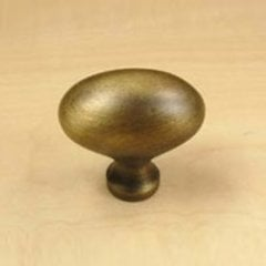 Plymouth 1-3/8 Inch Diameter Weathered Brass Cabinet Knob