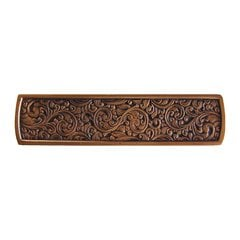 Classic 3 Inch Center to Center Antique Copper Cabinet Pull <small>(#NHP-659-AC)</small>