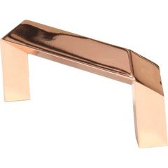 Venus 2-1/2 Inch Center to Center Polished Rose Gold Cabinet Pull