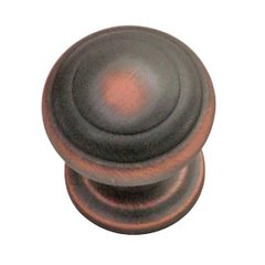 Zephyr 1 Inch Diameter Oil Rubbed Bronze Highlighted Cabinet Knob