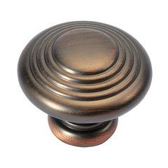 Fanfare 1-1/4 Inch Diameter Refined Bronze Cabinet Knob
