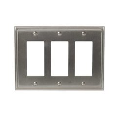 Mulholland Three Rocker Wall Plate Satin Nickel