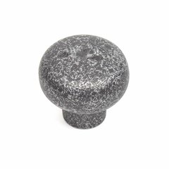 Century Hardware Whistler 1-3/8 Inch Diameter Dark Silver Aged Cabinet Knob 19607-DSA