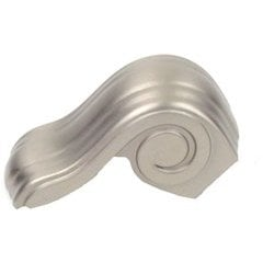 Volute 5/8 Inch Diameter Dull Satin Nickel Cabinet Knob