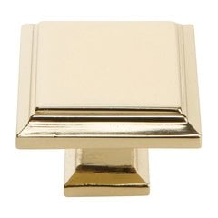 "Sutton Place Knob 1-1/4"" Dia French Gold"