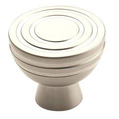 Sonara 1-1/4 Inch Diameter Satin Nickel Matte Cabinet Knob