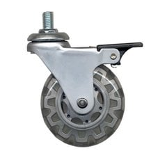 Furniture Caster With Swivel & Brake - Light Grey