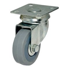 Rubber Caster With Swivel - Grey <small>(#F24784)</small>
