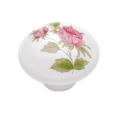 English Cozy Knob 1-3/8 inch Diameter Pink Rose