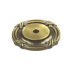 Georgian 1-1/2 Inch Diameter Polished Antique Back-plate