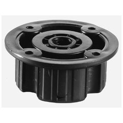 Plastic Screw Mount Socket Black