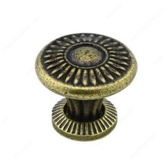 Traditional Cast Iron 1-1/2 Inch Diameter English Bronze Cabinet Knob