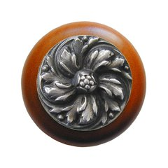 English Garden 1-1/2 Inch Diameter Antique Pewter Cabinet Knob